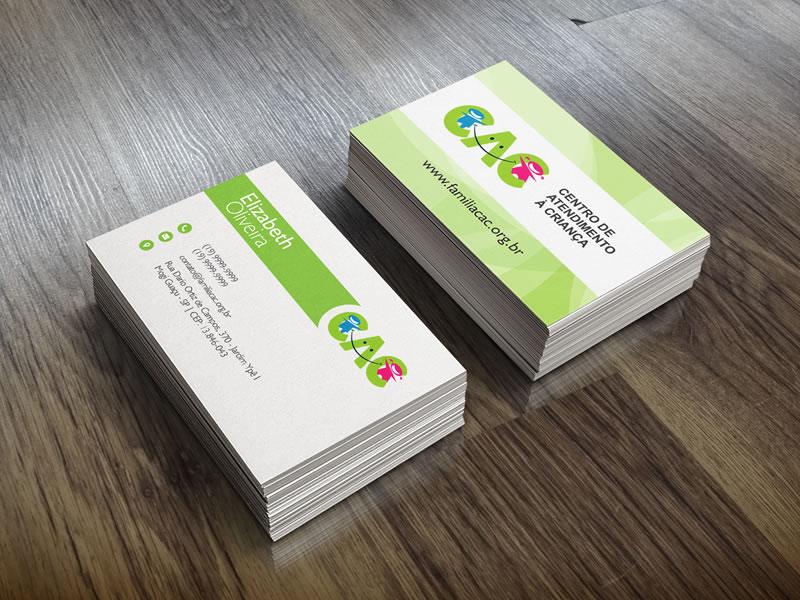 Cartões de Visita Família CAC